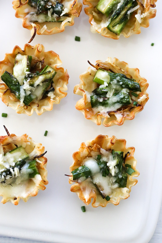 Asparagus and Caramelized Onion Tartlets – an easy, delicious Spring appetizer!