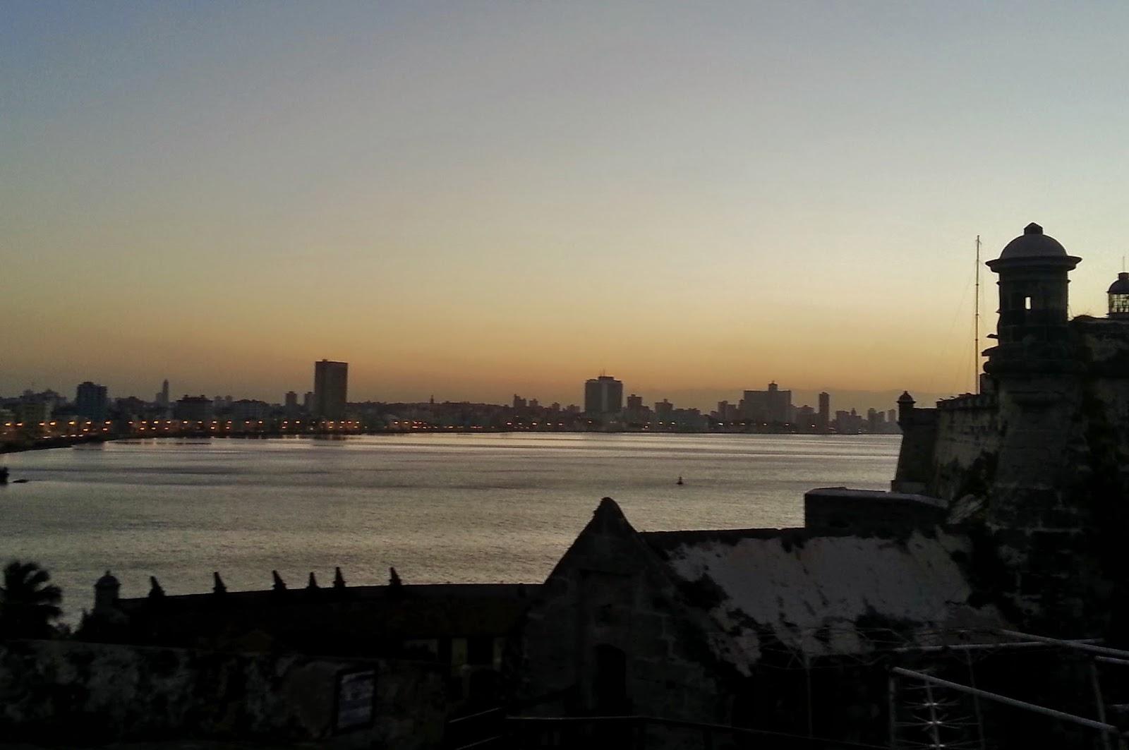Baía e cidade de Havana