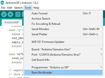 Burning Arduino Bootloader