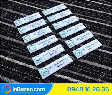 Thẻ tên nhân viên, làm thẻ tên nhân viên tại BMT Daklak
