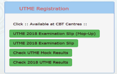 Mop-Up Results: JAMB Release 2018 UTME Mop-up Results