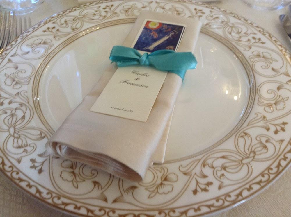 segnaposto nozze color tiffany