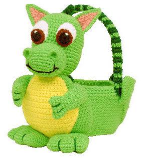 Crochet dragon  Easter basket