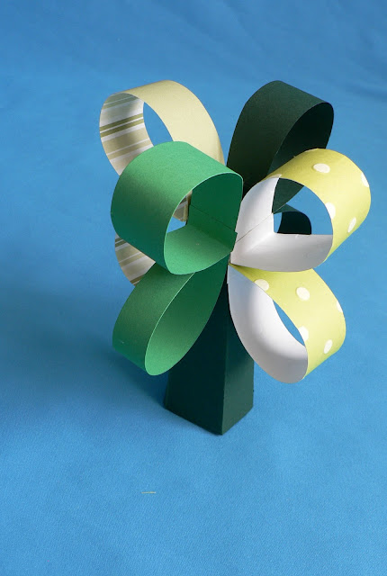 Paper Shamrock Chain craft, St. patrick's day craft for kids