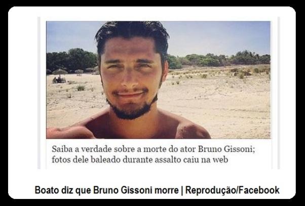 Bruno Gissoni é vítima de boato na internet.