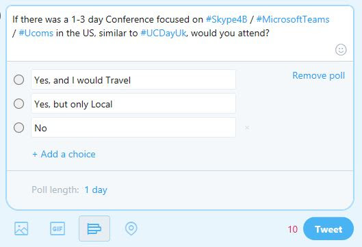 A Microsoft Teams & Skype for Business Specific Conference in the US?