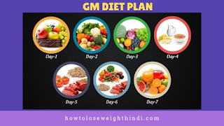 GM Diet plan :how to lose weight