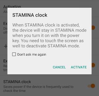 Activate Stamina Clock