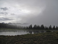 Little Molas Lake in the fog