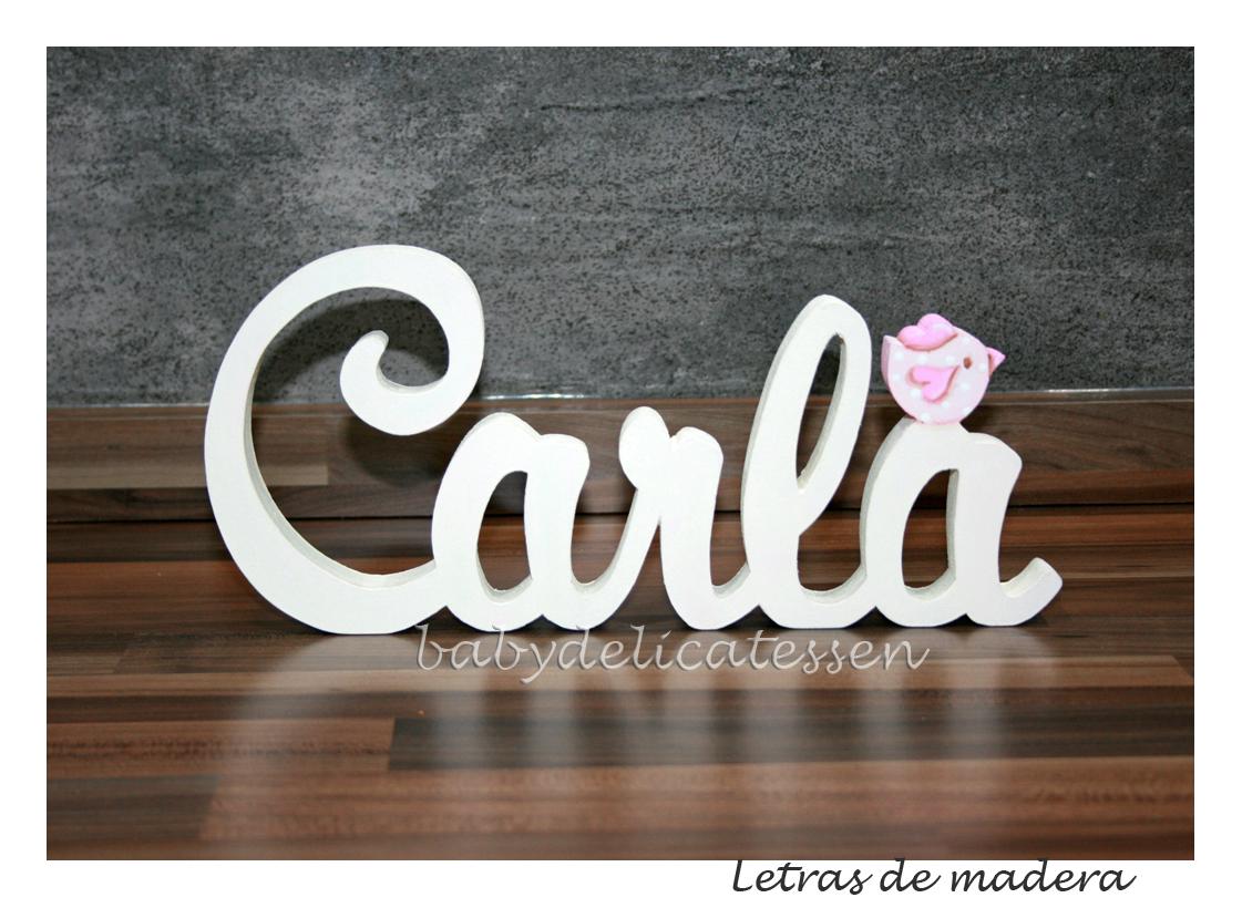 Baby delicatessen letras de madera carla - Letras para habitaciones infantiles ...