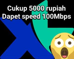 Berikut Cara Mendapatkan 1GB Kuota XL dengan Modal 5000  1. Off kan dulu data internetnya  2. Isi pulsa 5000  3. Tunggu bonus data 500MB dari isi pulsa  4. Setelah notifikasi sms bonus data sudah masuk, silahkan on kan datanya.  Kenapa data harus off dulu sebelum bonus masuk ? Karena biar pulsa tetap utuh/ tidak terpotong ketika on data, karena kita on dengan bonus kuota dari isi pulsa.  5. Setelah bonus kuota mau habis, misal tinggal 50MB, Segera beli Paket HotRod Baru XL 5000 500MB, Jadi sudah total kita dapat 1GB kuota dengan modal 5000, + tambahan aktif 7 hari.
