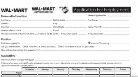 Cvs Job Application Walmart Job Application For Stocker