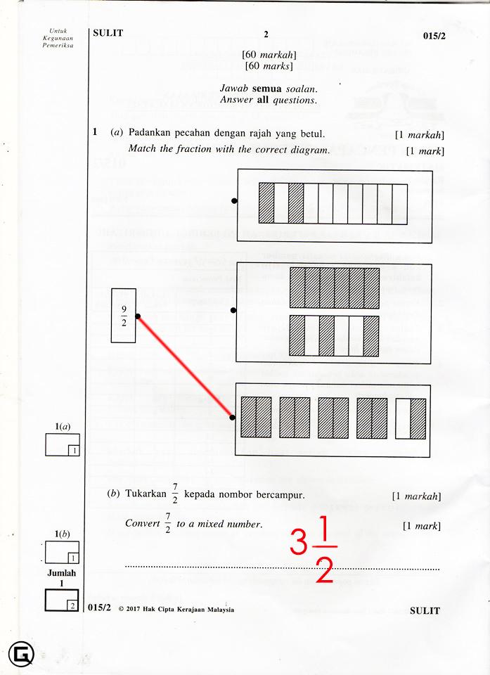 Jawapan Soalan Upsr Matematik Kertas 2 2017 Koleksi Grafik Untuk Guru