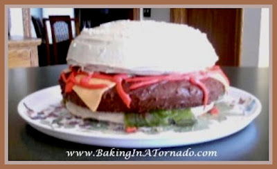 Cheeseburger Cake | www.BakingInATornado.com | #recipe