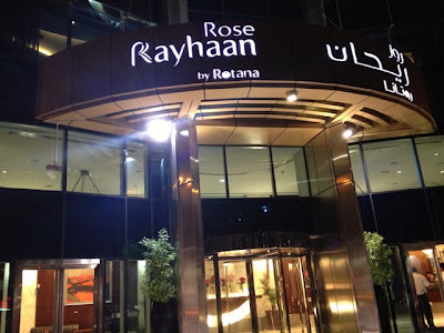 Outside Rose Rayhaan by Rotana Dubai