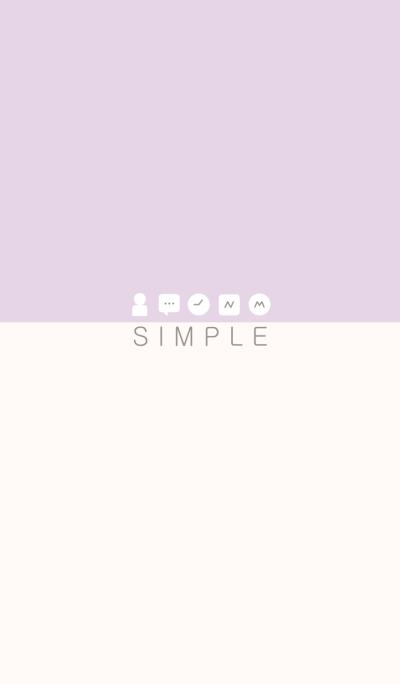 SIMPLE(purple beige/ivory)