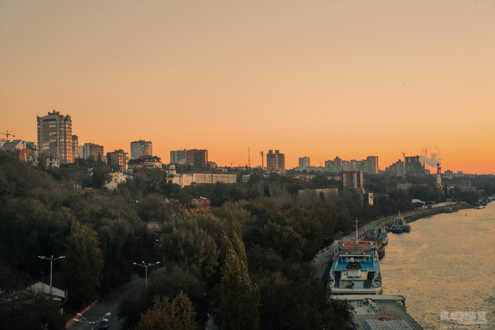 Рассвет в Ростове-на-Дону