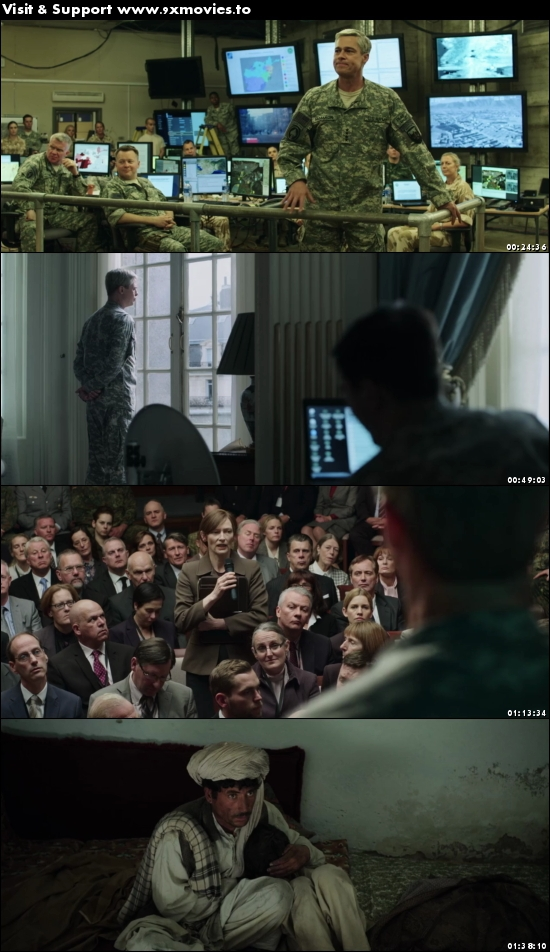 War Machine 2017 Dual Audio Hindi 720p WEBRip 999mb