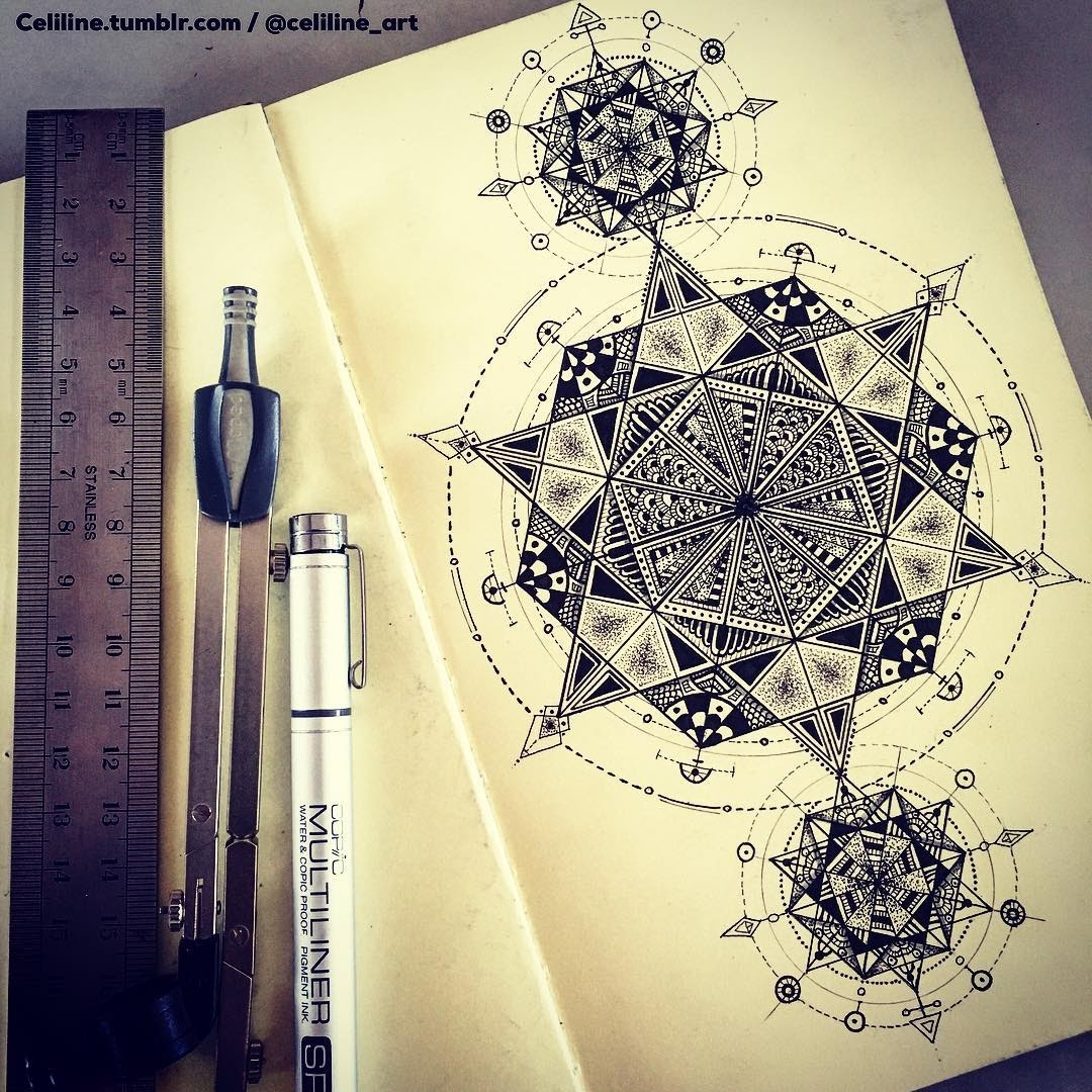 07-Celine-Silence-Lines-Art-Mandalas-Zentangles-and-Stippling-Drawings-www-designstack-co