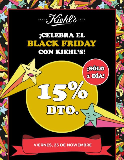 Black Friday 2016 en Kiehl's: 15% de descuento!