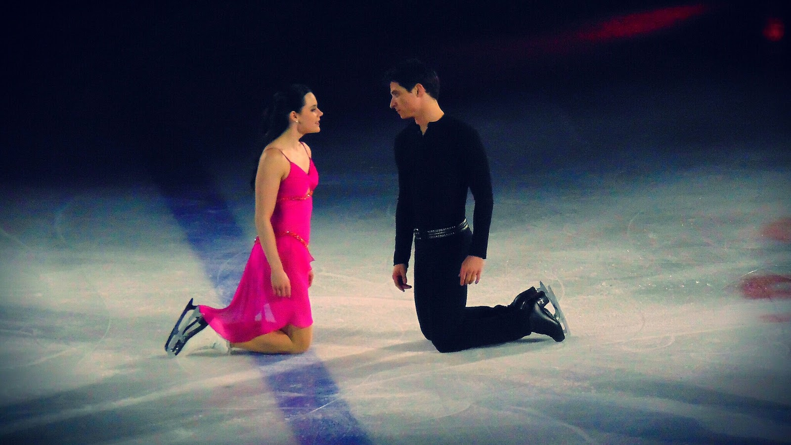Ice dancers Tessa Virtue and Scott Moir perform