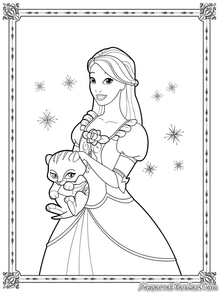 Free coloring pages of gambar princess