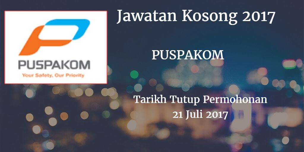 Jawatan Kosong PUSPAKOM 21 Juli 2017