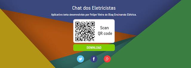 """Aplicativo """" Chat dos Eletricistas """" Participe já!"""
