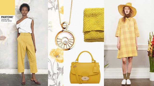 Цвет Pantone 2017 года Primrose Yellow в одежде и интерьере