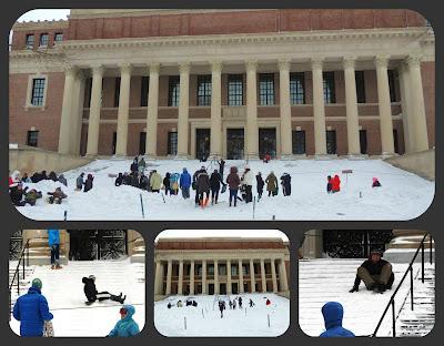 Escaleras de la Biblioteca de la Universidad de Harvard