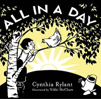 All in a Day book cover with boy and chicken in a tree