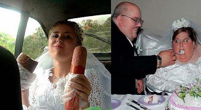 Hochzeits Essen lustig - dicke Braut