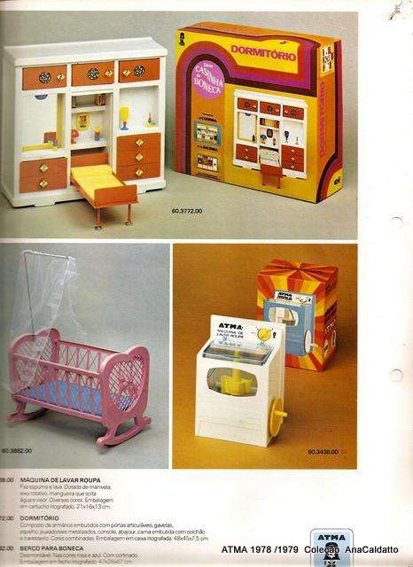 Ana caldatto s rie casinha de boneca atma anos 70 for Dormitorio anos 70