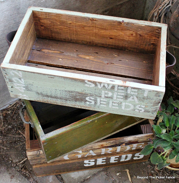 pallet wood and reclaimed trim crate DIY