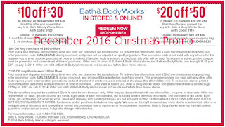 Bath And Body Works coupons for december 2016
