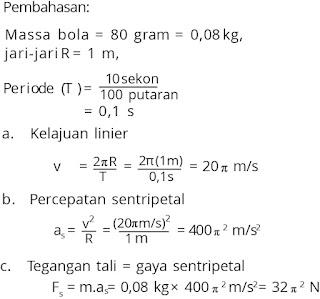 Jawaban soal fisika tentang gerak melingkar nomor 4