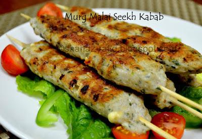 Murg Malai Seekh Kabab