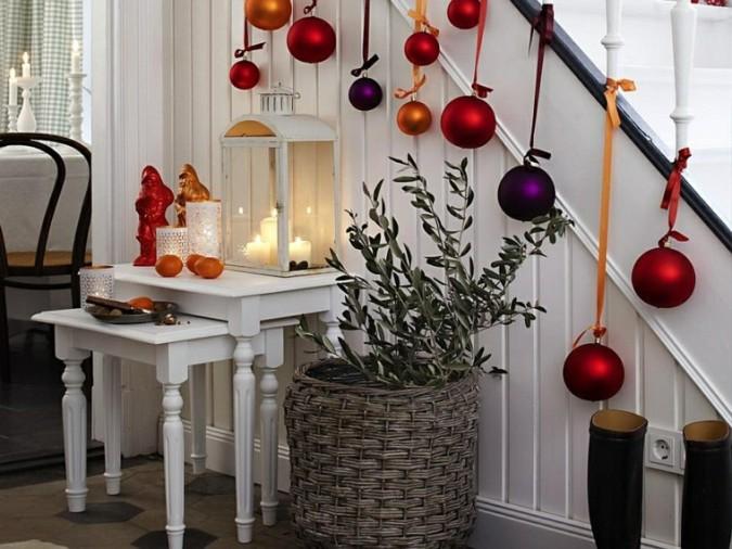 Adornos navideños para escaleras