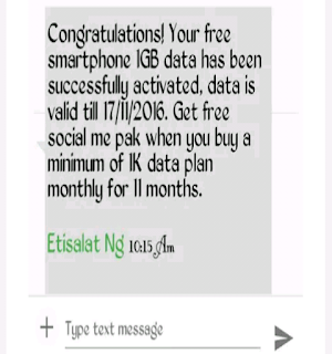 how to get free mb on etisalat 2016