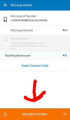 Zoto Mobile Recharge  free n1000 Airtime