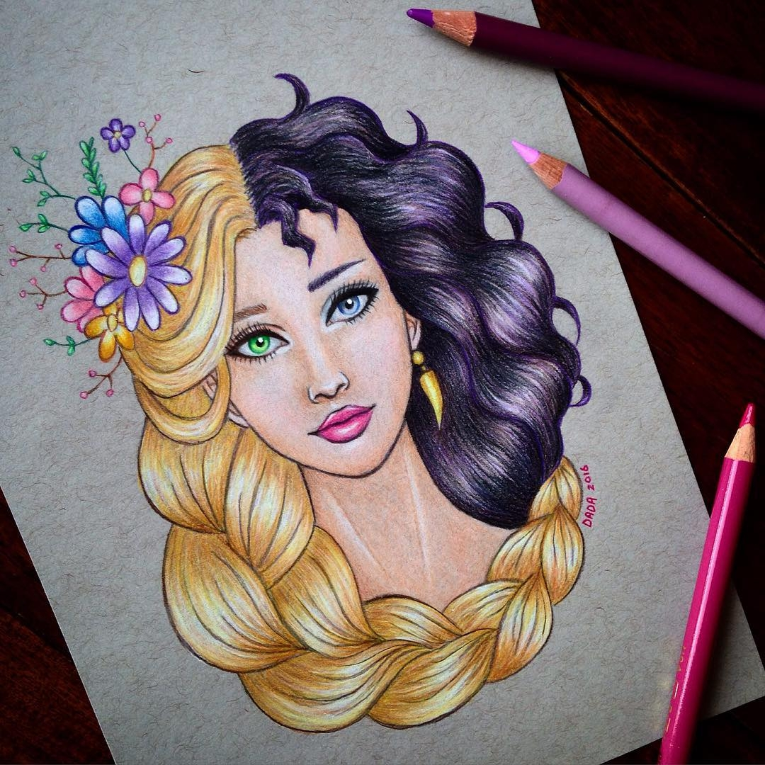 12-Rapunzel-vs-Mother-Gothel-Dada-Hayao-Miyazaki-Disney-and-Animé-in-Colored-Drawings-www-designstack-co