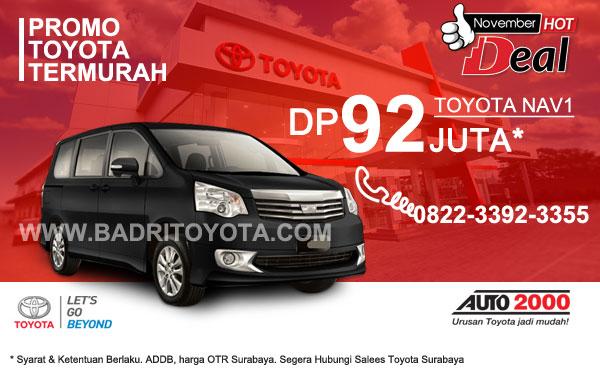 Paket Keren Toyota Nav1 DP 92 Juta, Promo Toyota Surabaya