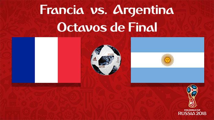 Francia vs. Argentina - En Vivo - Online - Octavos de Final - Rusia 2018