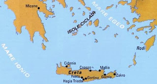 dove si sviluppò la civiltà minoica? guardalo sulla mappa