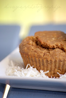 High Protein Coconut Banana Muffins