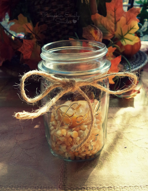 Clear Mason Jar Candle