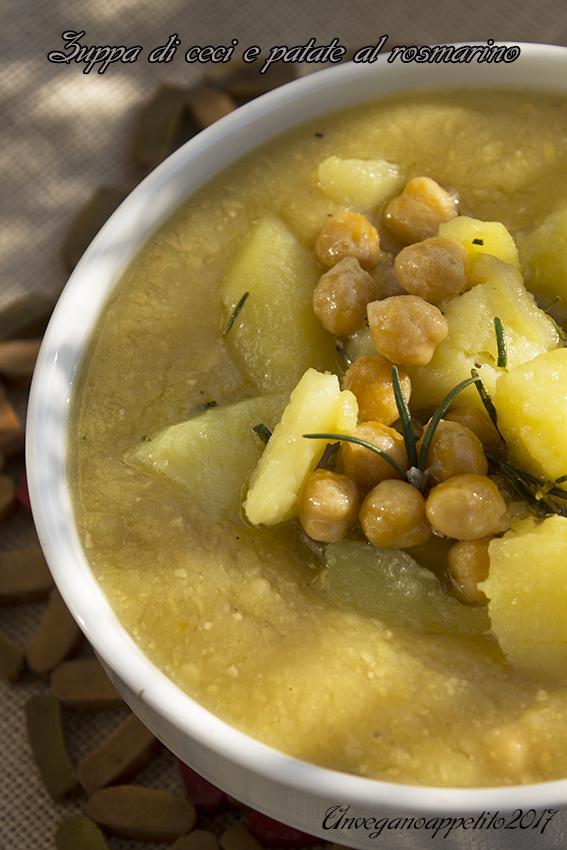 Zuppa di ceci e patate al rosmarino