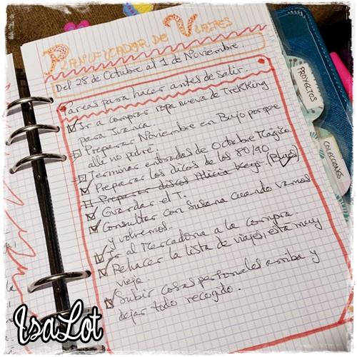 IsaLot Scrapbooking Bullet Journal Planificador de viajes