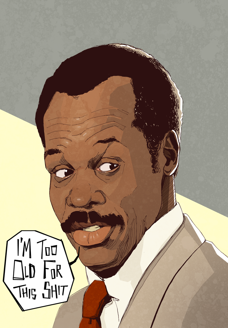 Poster illustration Murtaugh Lethal Weapon