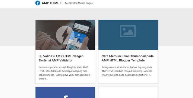 AMP HTML Responsive Blogger Templates